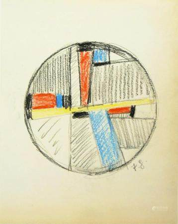 Fritz Glarner (1899-1972) Charcoal & Pastel