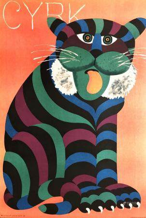 """Hubert Hilscher (1924-1999) Poster, """"Cyrk"""""""