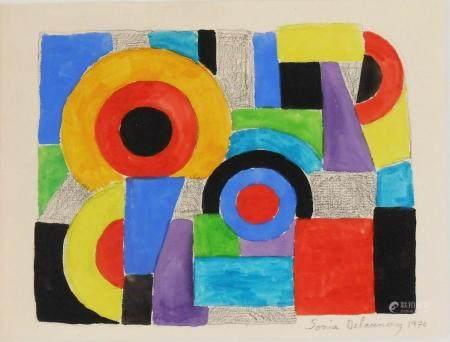 Sonia Delaunay (1885-1979) Watercolor