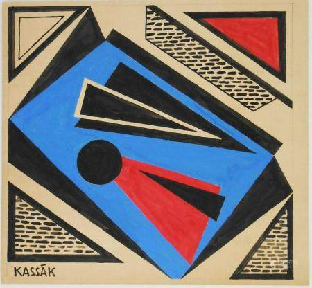 Lajos Kassak (1887-1967) Gouache
