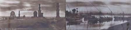 Deux vues du Caire Rudolf LEHNERT (1878-1948) et Ernst LANDROCK (1878-1966) Dans des cadres élé