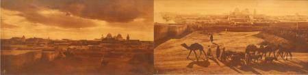 Deux vues de Tunisie (Kairouan) des photographes orientalistes Rudolf LEHNERT (1878-1948) et Er