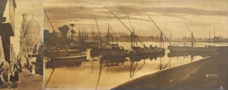 Deux vues d'Egypte  Rudolf LEHNERT (1878-1948) et Ernst LANDROCK (1878-1966) Une photographie d