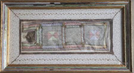 Rouleau talismanique calligraphié  dans un cadre probablement par Monir Shahroudy Farmanfarmaia