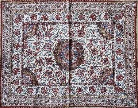 Kalamkar Coton peint et imprimé en polychromie selon la technique du kalamkari Iran, circa 1900