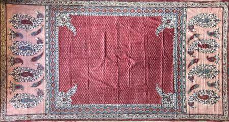Grand Kalamkar  Coton peint et imprimé en polychromie selon la technique du kalamkari Iran, cir