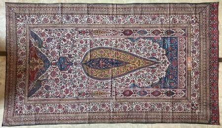 Grand Kalamkar Coton peint et imprimé en polychromie selon la technique du kalamkari Iran, circ