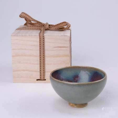 Jun kiln celadon glaze purple red spot