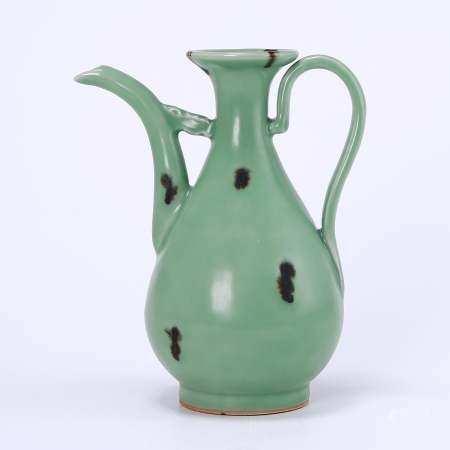 Longquan Kiln Celadon Dot Color Holding Pot