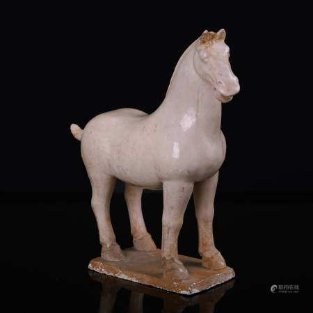Gongxian Kiln White Glazed Horse