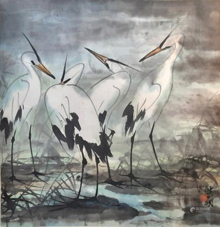 林風眠 白鷺