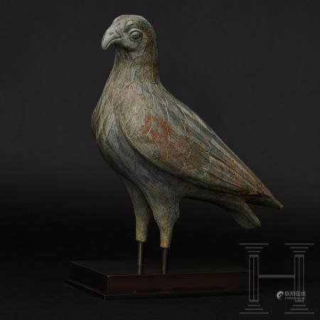 A Greek bronze eagle of unusual stature with exceptionally fine craftsmanship, possibly early c