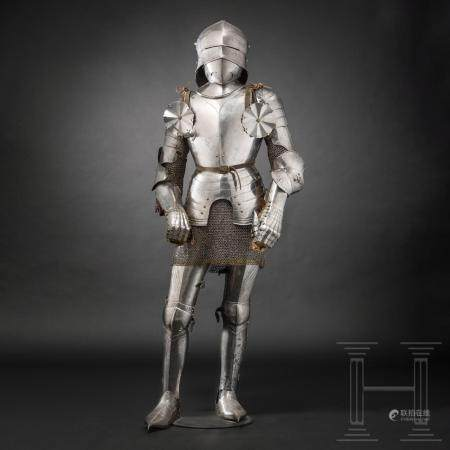 A South German Gothic full armour for the field, partly Innsbruck, circa 1480 1500