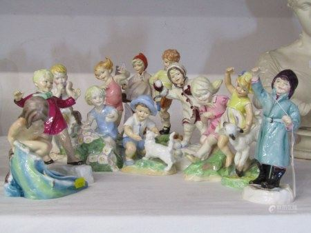 "ROYAL WORCESTER FIGURES, set of 12 child figures ""Months Of The Year"" by Doughty"