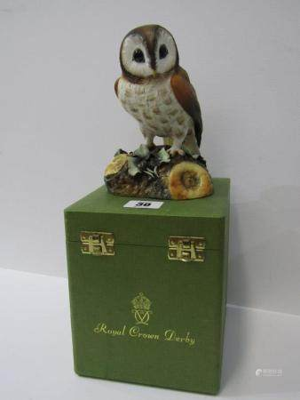 ROYAL CROWN DERBY BIRD, boxed figure of Brown Owl