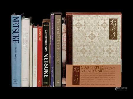[NETSUKE] A group of works about Japanese Netsuke, Inro and