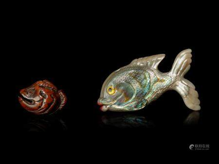 Two Fish-Form Ojime