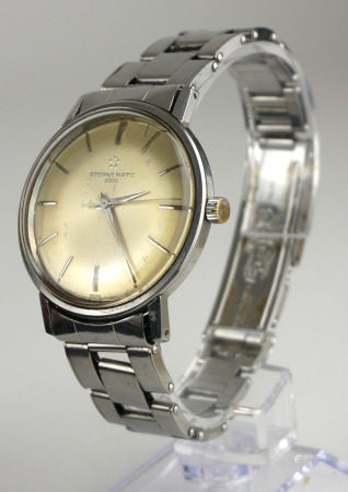 ETERNA MATIC 3000, A VINTAGE STAINLESS STEEL BRACELET WATCH. Condition: in working order