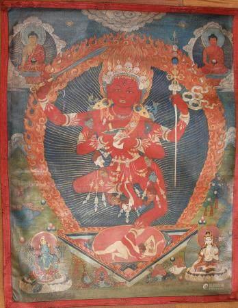 A THANGKA OF VAJRAVARAHI