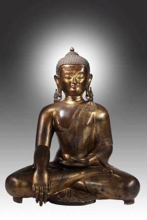 SITTING BUDDHA IN BHUMISPARSHA MUDRA