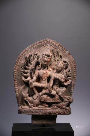 SHIVA AND PARVATI IN TANTRIC FORM