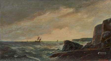 George Ricard-Cordingley (1873-1939) Paire de marines, huiles sur toiles, signées, [...]
