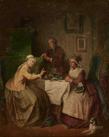 Attribué à Jacob Emmanuel Gaisser (1825-1890) Scène d'intérieur, huile sur toile, [...]