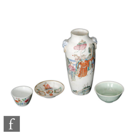 A small collection of 19th/20th Century Chinese porcelain items, to include a Wu Shuang Pu, (