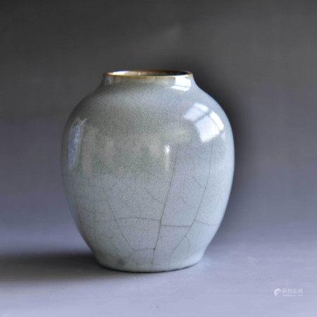 清 青釉小罐