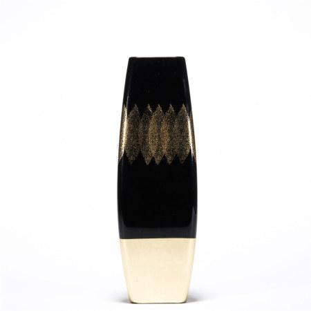 昭和 大漆叶纹花瓶