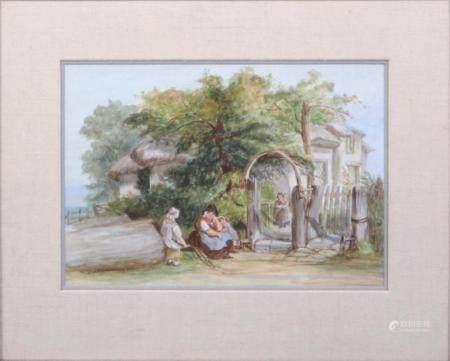 English 19th C. Enamel Painted Porcelain Plaque