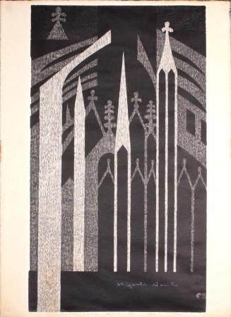 Kiyoshi Saito (Japan, 1907 - 1997) Woodblock Print, Notre-Da