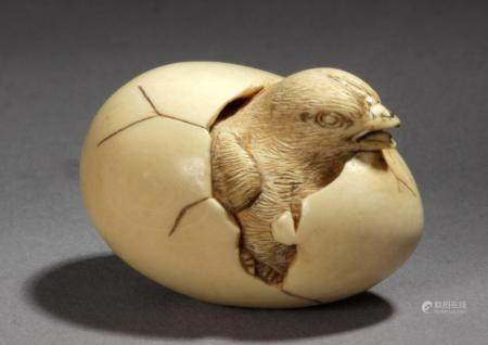 A late 19th century Japanese netsuke from Meiji period