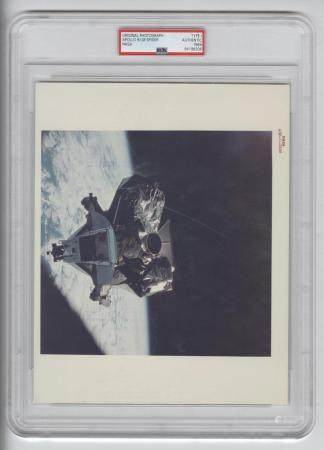 "Official NASA Red Number Photo of Apollo 9 Lunar Module ""Spi"