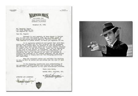 Humphrey Bogart Signed Deal Re: Maltese Falcon and Treasure