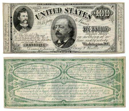 Benjamin Butler & Greenback Party Satirized with Fictitious