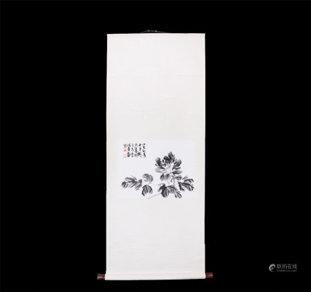 Chinese Scroll Painting Xu Linlu-Flowers