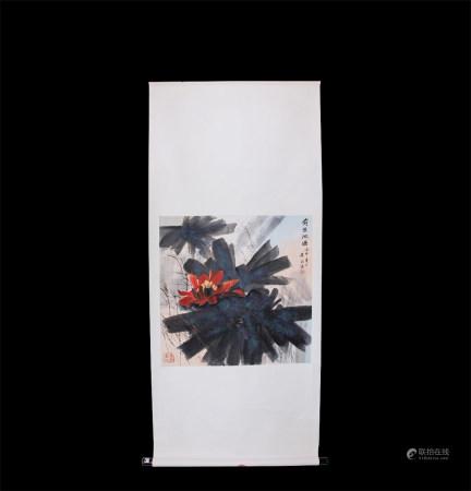 Chinese Scroll Painting Huang Yongyu-Lotus Pond