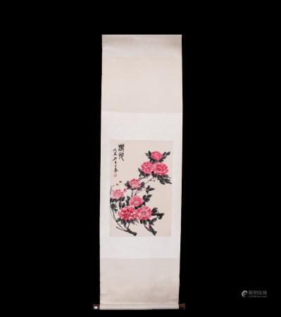 Chinese Scroll Painting Lou Shibai-Chunguang