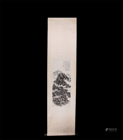 Chinese Scroll Painting Huang Binhong-Landscape
