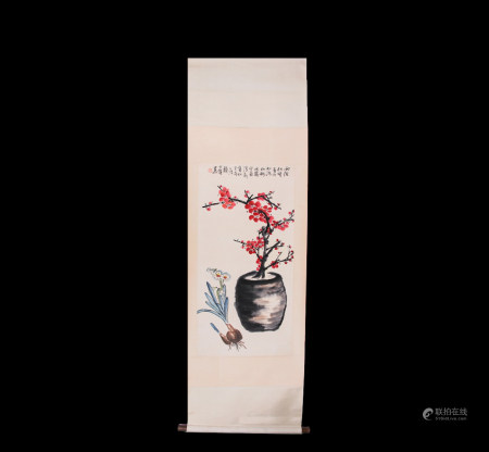 Chinese Scroll Painting Lai Shaoqi-Photo Courtesy Of Qing