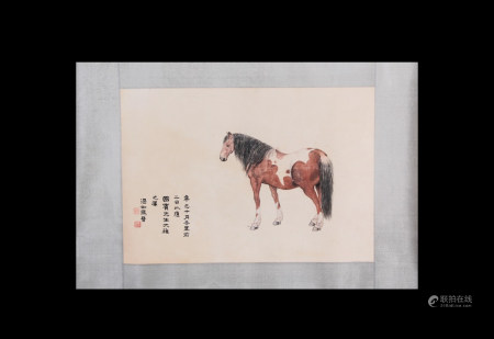 Chinese Scroll Painting Ma Jin-Horse