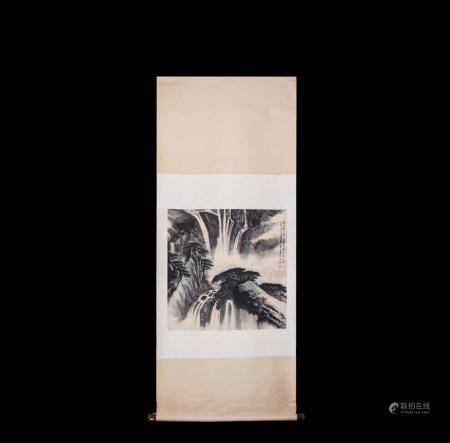 Chinese Scroll Painting Wei Zixi-Landscape