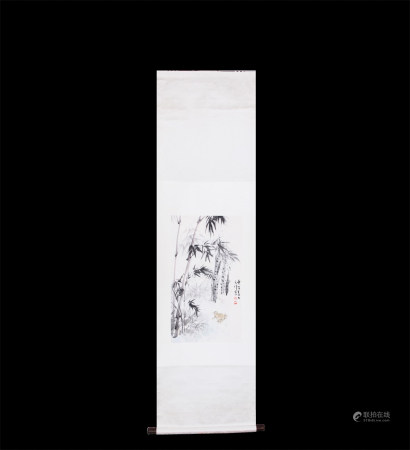 Chinese Scroll Painting Sun Qifeng-Frog Sound