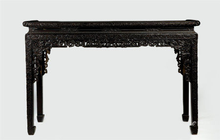 ANCIENT CHINESE RED SANDALWOOD LONG NARROW TABLE