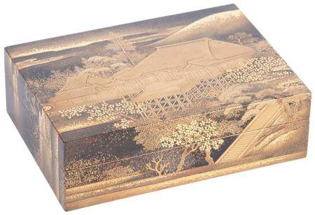 Japanese Gold Lacquered Box, Chabako