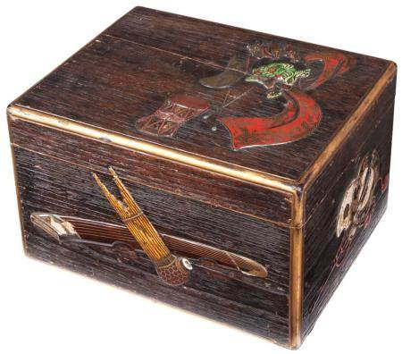 Japanese Lacquered Wood Accessory Box attributed to Ritsuo