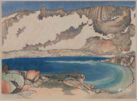 Chiura Obata (1885-1975) Lake Basin in High Sierra, Johnson