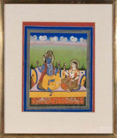 Indian Gouache on Paper Miniature Painting