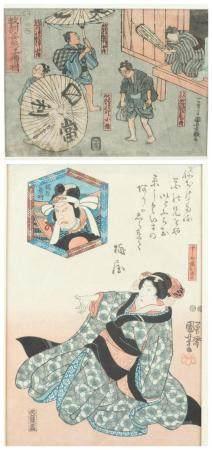 2 JAPANESE WOODBLOCK PRINTS, KUNIYOSHI.